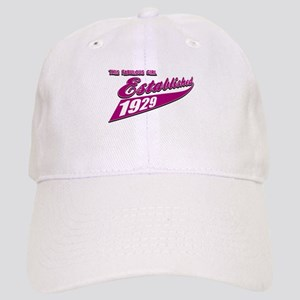 Established in 1929 birthday designs Cap