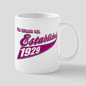 Established in 1929 birthday designs Mug