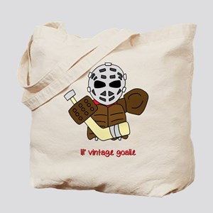Lil Vintage Hockey Goalie Tote Bag