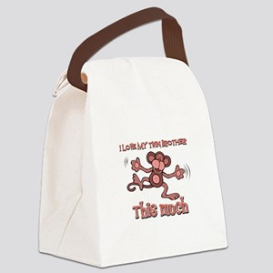 I love Twin Brother this much Canvas Lunch Bag