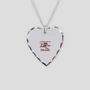 I love Step Dad this much Necklace Heart Charm