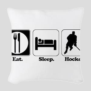 hockey Woven Throw Pillow