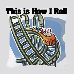 roller coaster Woven Throw Pillow