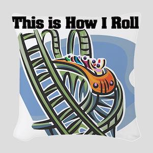 roller coaster Woven Throw Pillow