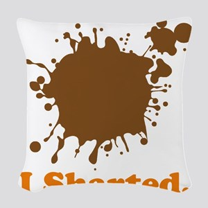 i sharted Woven Throw Pillow