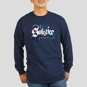 """Solstice Greetings"" Long Sleeve Dark T-Shirt"