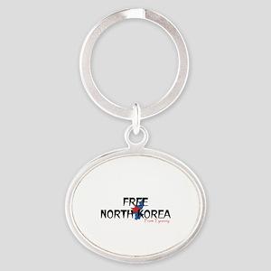 Free North Korea Oval Keychain