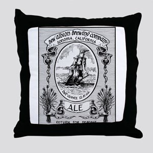 New Albion Brewing Company Swag Throw Pillow