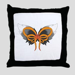 MS Ribbon Throw Pillow