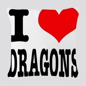 DRAGONS Woven Throw Pillow