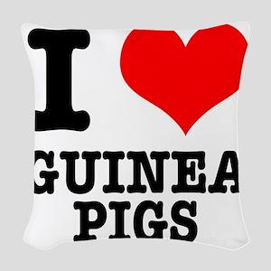 GUINEA PIGS Woven Throw Pillow