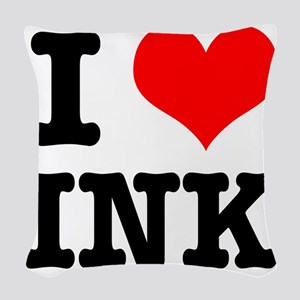 INK Woven Throw Pillow