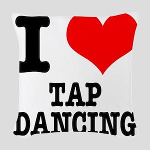 TAP DANCING Woven Throw Pillow