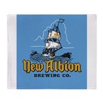 New Albion Brewing Company Throw Blanket