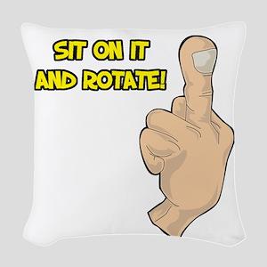rotate Woven Throw Pillow