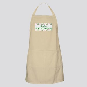 GREEK MERRY CHRISTMAS BBQ Apron