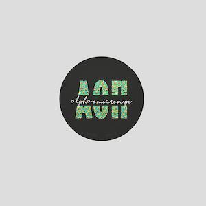 Alpha Omicron Pi Letters Emoji Mini Button