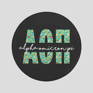 Alpha Omicron Pi Letters Emoji Button