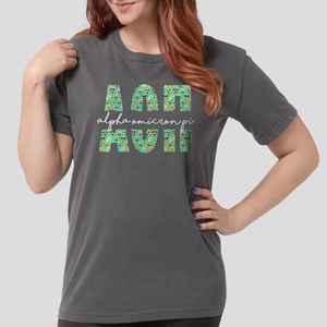 Alpha Omicron Pi Lette Womens Comfort Colors Shirt