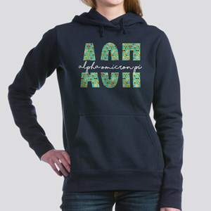 Alpha Omicron Pi Letters Women's Hooded Sweatshirt