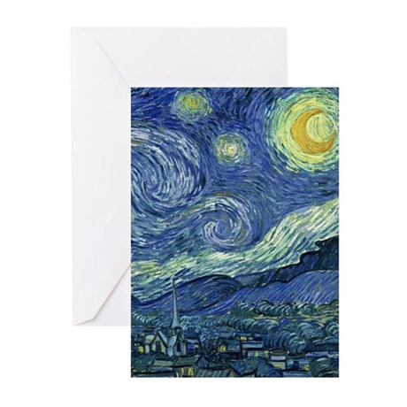 Starry Night by Van Gogh Greeting Cards (Pk of 20)