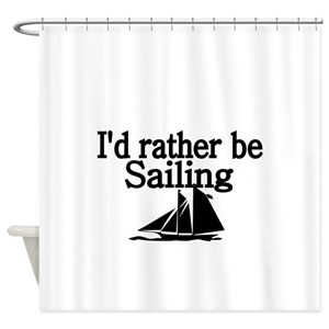 Mens Sailing Shower Curtains