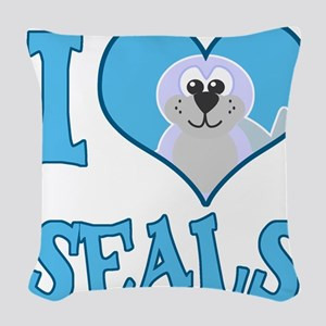 love seals Woven Throw Pillow
