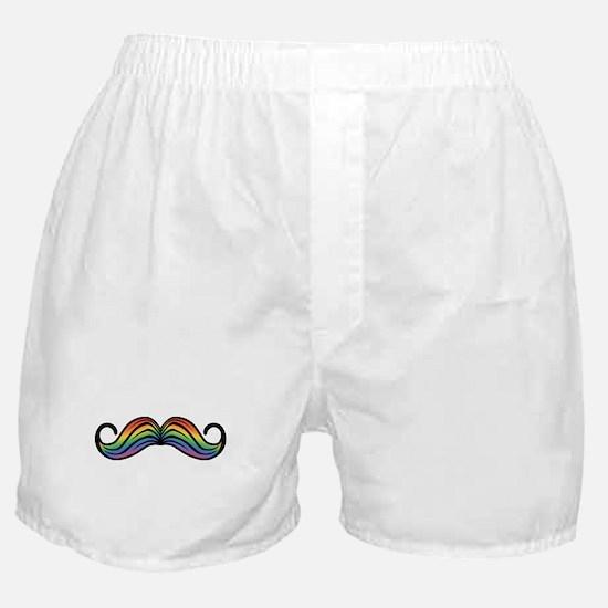 Rainbow Moustache Boxer Shorts