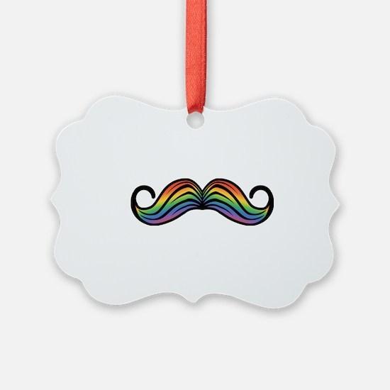 Rainbow Moustache Ornament