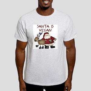 Santa Is Vegan Ash Grey T-Shirt