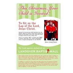 Lap of the Lord Mall Postcards (Package of 8)