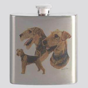 Airedale Terrier Flask
