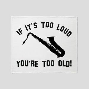 Tenor Saxophonne Vector designs Throw Blanket