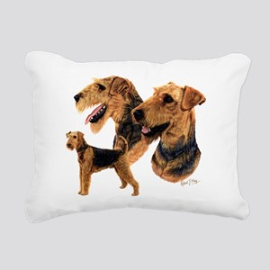 Airedale Terrier Rectangular Canvas Pillow