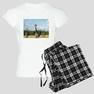 Posing African Giraffes Pajamas