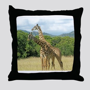 Mara Giraffes Throw Pillow