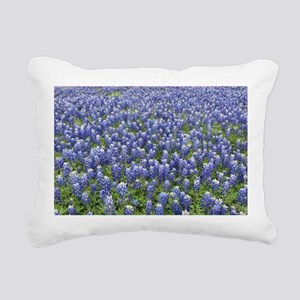 Bluebonnets Rectangular Canvas Pillow