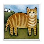 Orange Tabby CAT Kitten ART Tile/Coaster