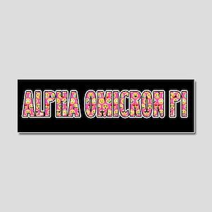 Alpha Omicron Pi Emoji Car Magnet 10 x 3