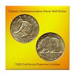 California Diamond Jubilee Coin Tile Coaster