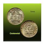 Iowa Centennial Coin Tile Coaster