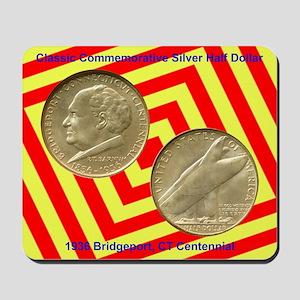 Bridgeport CT Centennial Coin Mousepad