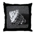 Conch Shell (B&W) Throw Pillow