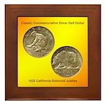 California Diamond Jubilee Coin Framed Tile