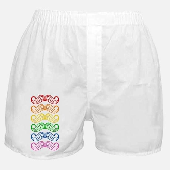 Rainbow Moustaches Boxer Shorts