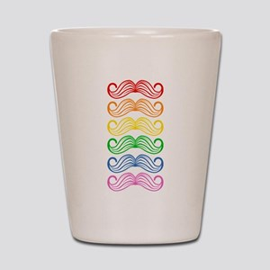 Rainbow Moustaches Shot Glass