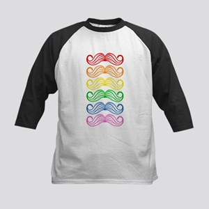 Rainbow Moustaches Baseball Jersey