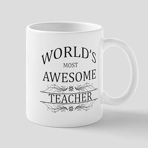World's Most Awesome Teacher Mug