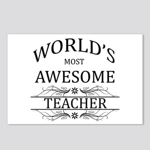 World's Most Awesome Teacher Postcards (Package of