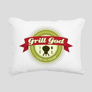 Grill God Rectangular Canvas Pillow